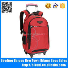 2015 new designer heavy duty wheels rolling backpack trolley bag bag with wheel