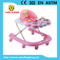 new baby walker with musical and flashing butterfly face and six wheels