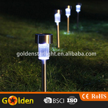 Stainless steel high quality energy saving led solar garden light solar lawn light