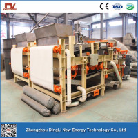 4-5m3/h DingLi Belt Roller Press Dehydrator for Alfalfa Dehydration