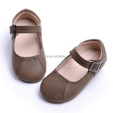 Factory directly sale TPR outsole buckle strap autumn girl shoes flats
