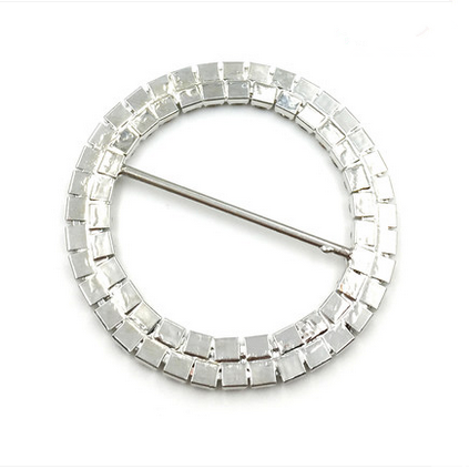 round shaped overcoat buckle with crystal