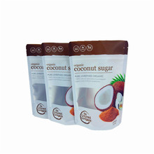 Online shop china customized stand up food pouch 300g organic coconut sugar bag