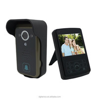 "2.4G 3.5"" Camera Monitor Night Vision PIR Intercom Doorbell Wireless Video Door Phone"