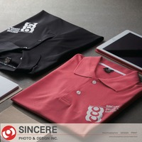 Polo shirt is dry fit action and custom printing t shirt