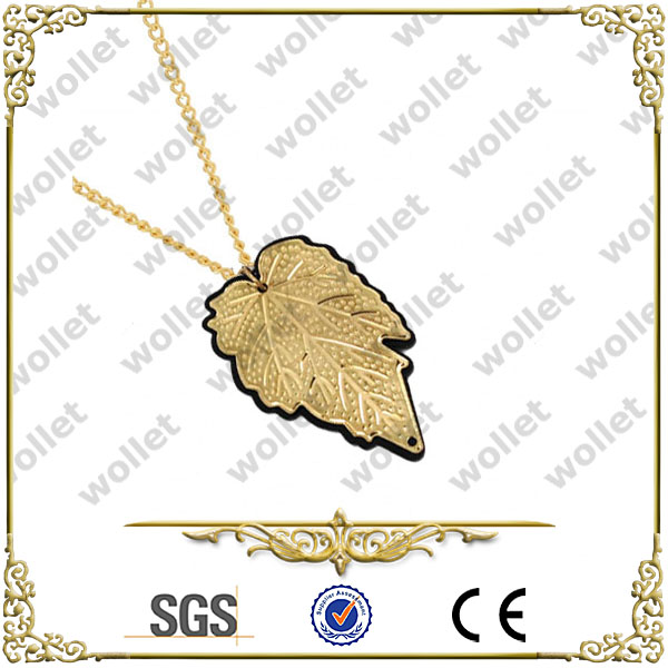 wholesale alibaba stainless steel golden leaf pendant