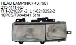 213-1111-RD OEM 1-8210291-2/292-2 FOR ISUZU NHR98/NKR/JMC Auto Car head lamp head light