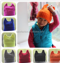 TF-04150808013 new 2015 high quality cotton children's cat ear cap