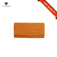 2016 Fashion Suede Leather Ladies Wallet Fancy Ladies Hand Pars