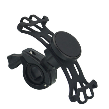 New Shockproof Black Universal Magnetic Motorcycle Scooter Bicycle Bike Stroller Golfcart Shopping cart Cell Phone Holder Mount