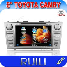 2 din car dvd player for Toyota Camry 8 inch touch screen GPS,TV,bluetooth,sd,usb