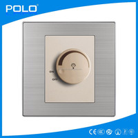 2015 hot color electrical low carbon stainless brushed dedicated fan speed controller/light dimmer switch
