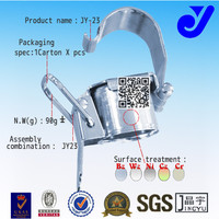 JY-23|Quick removable metal pipe connector|Pvc pipe elbow|DIY shelf combination longevity welding pipe support bracket