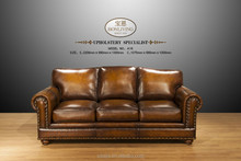 Crocodile Embossed Leather Sofa