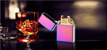 cheap custom lighter colorful cigarette lighte no gas no refill windproof & Flight approval Double arc usb lighter