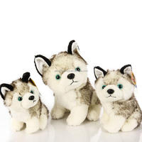 hot sale cute plush soft toy dog husky supply in grey