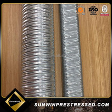 0.25mm metal post tensioning corrugated galvanized steel culvert pipe for pc strand