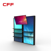 Digitization LED LCD tile free standing product display panels racks with smart style