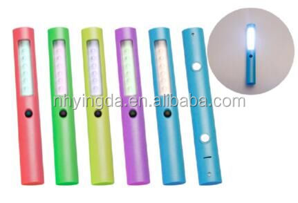 Yingda factory price plastic ROHS promotion led flashlight with magnet