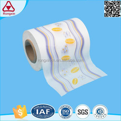 ISO9001 18-90um thickness rolls raw material laminating diaper breathable pe film for adult