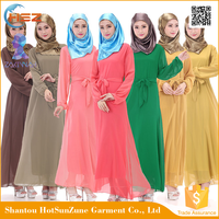 Zakiyyah 690 Women Abaya From Mumbai Long Sleeve Islamic Dress Silk Baju Kurung Design