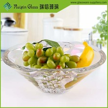 Superior quality crystal glass dessert bowls,round cheap glass bowl for decoration