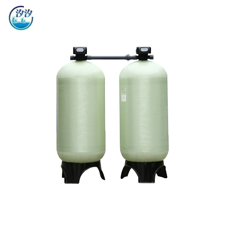 10TPH Automatic Control FRP Tank Sand Filter Carbon Filter Water Softener System