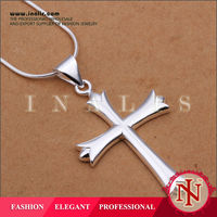 Exquisite cross silver jewelry accessory for men N290
