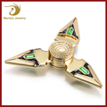 Zinc Alloy Gold Plated Metal Fidget Hand Spinner Kids Game Toy Best Gifts