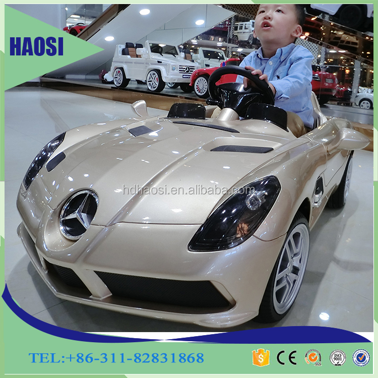 High quality wholesale ride on car battery remote control children kids electric toy licensed mercedes benz ride on toy car