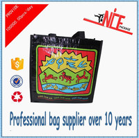 2015 wholesale cheap laminated pp woven carrier bag