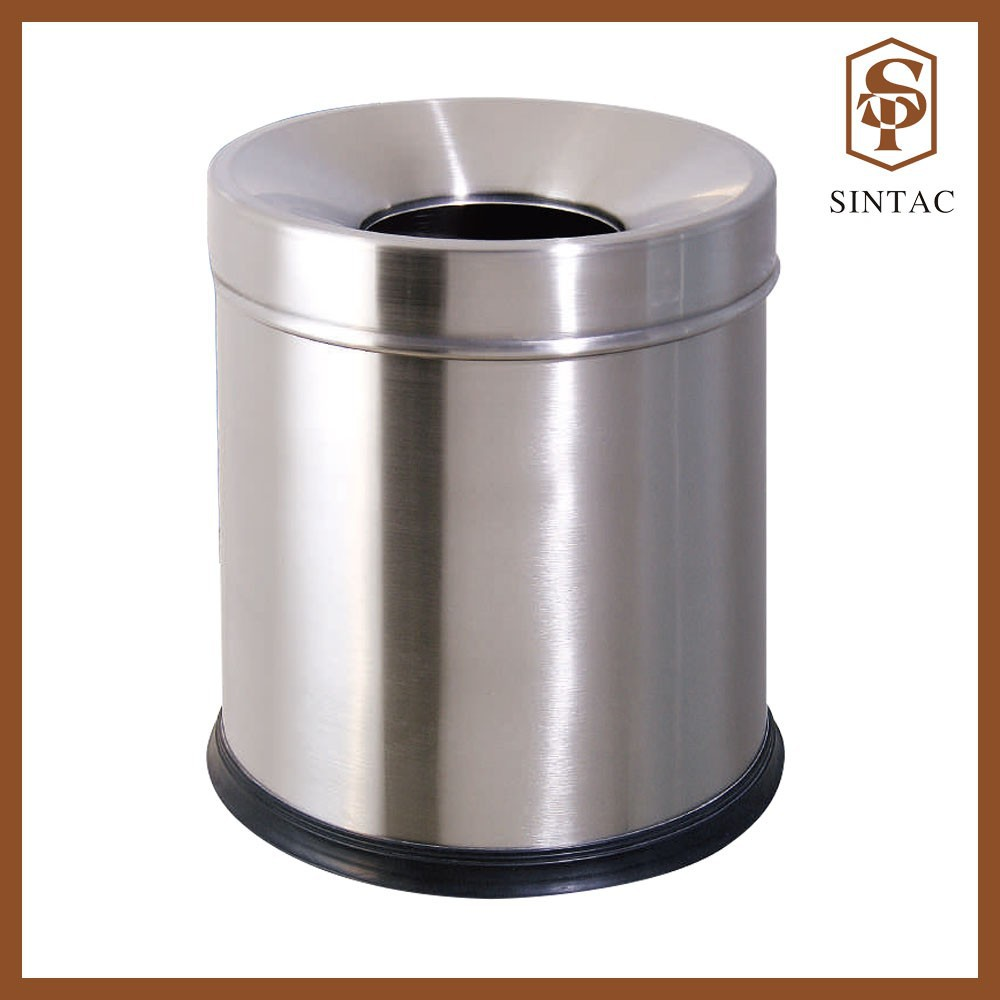 Stainless steel room waste bin