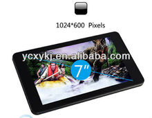 Dual Core RK3168 Android4.2 OS 1G+8GB 1024*600pixel Wifi Tablet 7