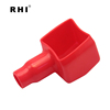 Car Black and Red Soft Plastic Angle Type Battery Terminals Boots Covers
