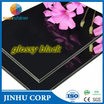 high quality Glossy/matte Black Advertising Board acp material, normal and Famous in USA and Canada market