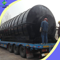 Environmental protection scrap used tyre to oil pyrolysis machine