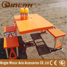 Aluminum Plastic camping table set Outdoors Picnic Camping Travel Table