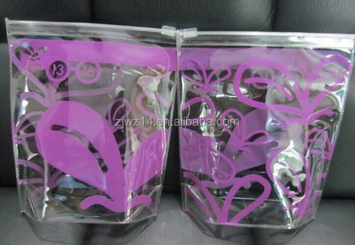 cheap fashion custom standard transparent ice cooler pvc bag for 1 wine bottle