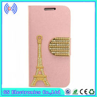 special design Eiffel tower flip leather fancy cover for samsung galaxy s4 mini