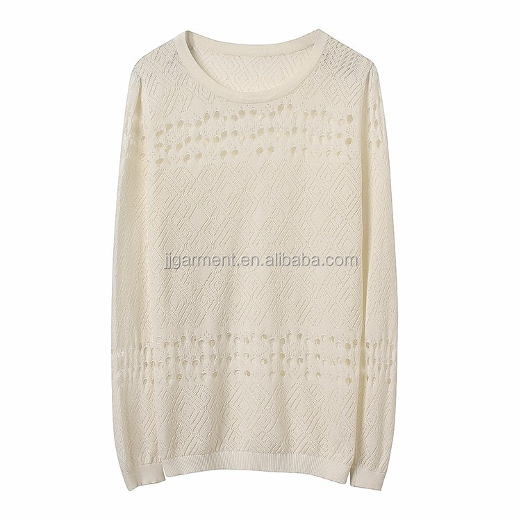 Wholesale Alibaba Ladies pullover O-neck sweaters knitted sweater women