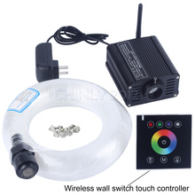 16W RGBW LED Engine With White Wireless Wall Touch Controller+3m(0.75mm*200pcs+1.0mm*70pcs+1.5mm*30pcs) Optical Fiber Cable Kit