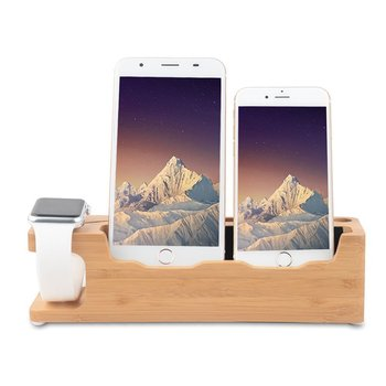 Phone Stand With 3 in 1 Desktop Charging Dock Station for Apple Watch stand and All iPhone Compatible with Nightstand Mode