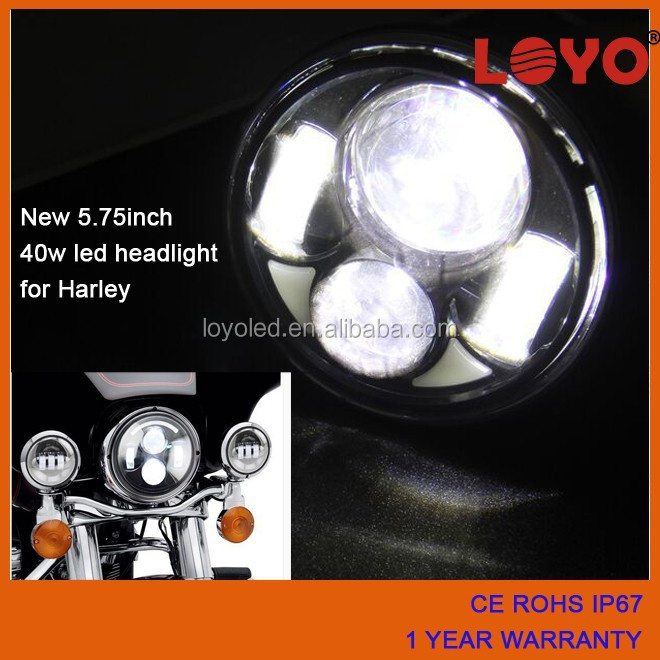 hot sale China Guangzhou 40w 5.6inch 5.75inch 5.65inch Car accessories led motorcycl headlight for Harley davidson
