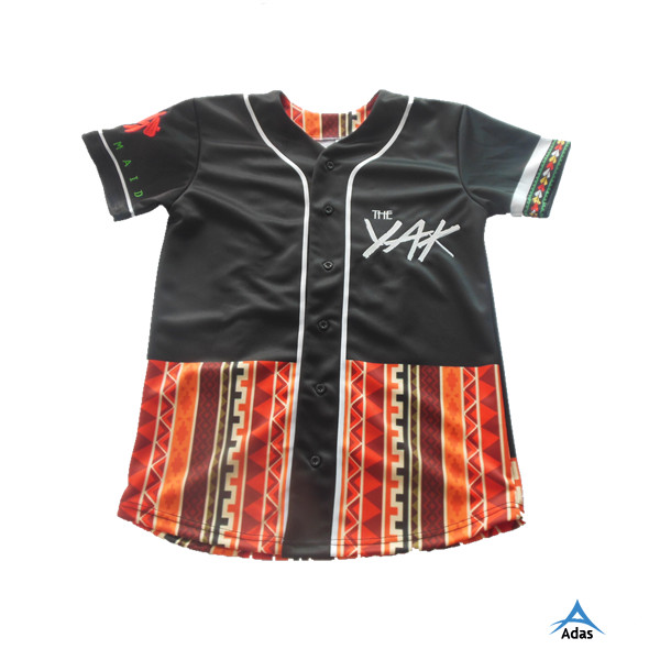 high quality embroidery baseball jersey/shirt with tackle twill