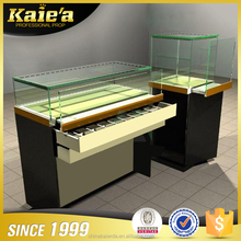 Jewelry kiosks for mall glass showcase display cabinet