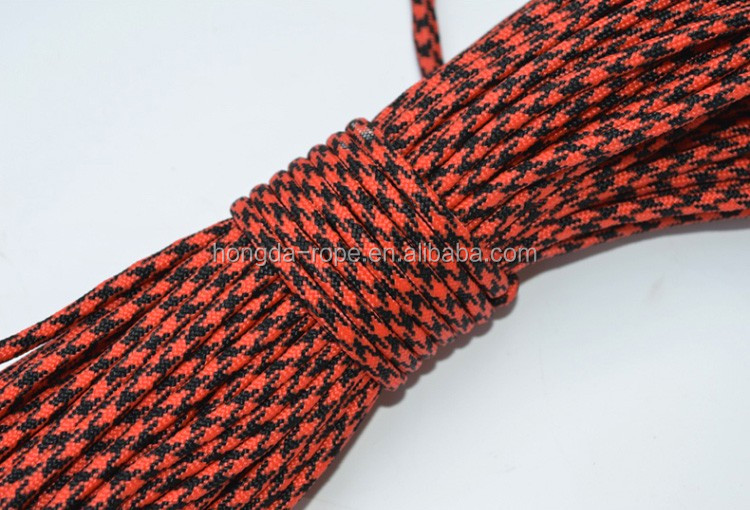 Military standard 4MM barided static rope for mountain climbing