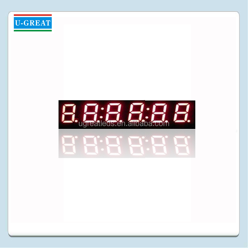 4 Inch 6 Digits Red 7 Segment LED Timer Display