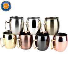 stainless lined antique brass and copper mugs with logo