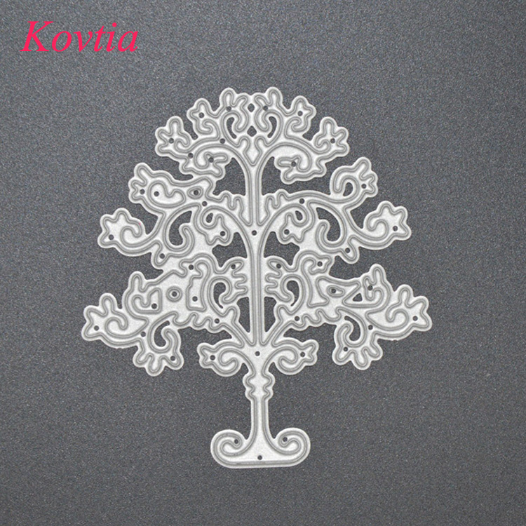 Open Tree Shape Kids Loving DIY Home Wall Decoration Metal Dies Craft For Card Making