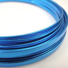 DIY crafts colored flat aluminum wire anodized